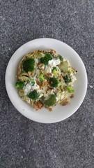 Avondeten (Omelet met broccoli en feta) (westher) Tags: juni zomer thuis eten 2016