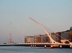 Samuel Beckett Bridge (mikecogh) Tags: dublin design dusk harp angular riverliffey sensuous samuelbeckettbridge