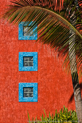 Shapes and colors (3scapePhotos) Tags: 3scapephotos barcelo mexico playadelcarmen abstract architecture blue building caribbean centralamerica color colorful contemporary gulfofmexico interiordesign island islands modern orange palmtree pattern red shapes squares texture three tourism travel tropical tropics vacation vertical wall wallart window
