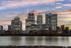 Docklands Lights... (JH Images.co.uk) Tags: canary wharf london citi barclays low tide sunset river thames docklands hdr dri architecture colours reflection sky clouds skyscraper skyscrapers