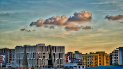 DSC00103_HDR (fahd.b.iqbal) Tags: blue sunset sky tree green birds yellow clouds landscape photography sony dhaka alpha bangladesh hdr gulshan hdrphotography a6300