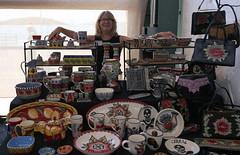 Jacqueline Thompson Ceramics (beppesabatini) Tags: california richmond bayarea artsandcrafts kpfa craftsfair artsfair cranewaypavilion 941kpfa 2ndannualkpfasummerartsfair2016 kpfasummerartsfair