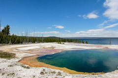 Abyss Pool at West Thumb Geyser Basin - Lake Yellowstone Lake (i am pam photos) Tags: yellowstone national park abyss pool west thumb geyser basin lake lodge