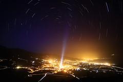Trazos sobre Gmar (pedroeldeguimar) Tags: luces noche valle pedro estrellas tenerife montaa aire socorro gomez candelaria startrails gmar arafo