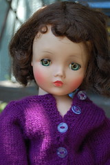 Portrait of Cissy (Emily1957) Tags: cissy portrait hardplastic dolls doll toys toy light naturallight nikond40 nikon kitlens purple