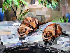 What a Pair (Megan Coyle) Tags: art collage illustration paperart collageart nationalzoo otters animalart cutandpaste papercollage zooanimals zooart magazinecollage otterart animalcollage megancoyle coylecollage paintingwithpaper ottersisters ottercollage