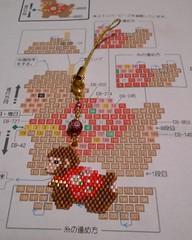 Monkey, zodiac charm (Chimerastone) Tags: japanese diy beads handmade craft charm attachment zodiac woven miyuki brickwork delicas beadsfactory シェイプドステッチで作る干支チャーム開運干支申monkey