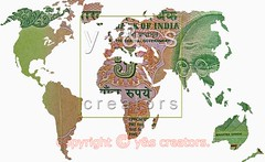 World Map 5 Rs Banknote, Concept (yogesh s more) Tags: world ocean travel blue wallpaper abstract art texture illustration digital print design globe technology graphic symbol map earth five background space web south north creative atlantic east communication business countries planet land atlas geography concept shape continent template currency global banknote rupees