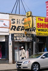 Shine King shoe shine & repair. (Cragin Spring) Tags: city urban chicago austin illinois midwest shoes shine chitown il repair shoeshine shoerepair chicagoillinois windycity shineking