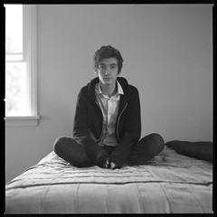 Dylan (Molly Castle) Tags: film silver print bedroom interior young indoor personality teenager environment enviroment