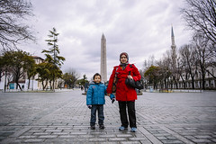 Istanbul | Hippodrome Square | Sultanahmet Square | Mother and Son (wazari) Tags: city travel art history classic architecture photoshop vintage turkey photography ancient asia europe european place artistic ataturk minaret islam faith religion culture istanbul mosque retro photograph adobe journey dome destination historical ottoman taksim middleages secular turkish byzantine bosphorus masjid asean cultural turk sultanahmet traveler galata constantinople islamicart travelphotography galatatower stamboul travelphotographer wazari senibina wazariwazir