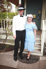 My parents for a Gatsby Party (ShannonCorsi) Tags: cute couple suit fedora 20s gatsby