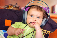 Week 20/52 (D-Focused) Tags: music baby child newborn headphones 52 akg listen 52weeks 35mmf18 nikond90 52weeksofphotography