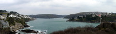 Fowey Estuary (Worthing Wanderer) Tags: grey coast spring cornwall cloudy path windy cliffs april dull polkerris southwestcoastpath