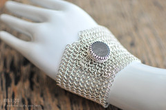 Sterling silver European chain mail button cuff with Gold Sheen Obsidian (Random Life Project) Tags: european jewelry bracelet cuff chainmail obsidian sterlingsilver buttoncuff goldsheenobsidian magmgpproject magmgp europeanchainmail