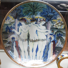 Three Muses plate - V&A - squared circle (Monceau) Tags: plate squaredcircle squircle threemuses