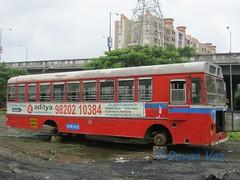 IMG_2181 (Rovan's_buses) Tags: golden nest tata w scrapyard flyover ashok leyland mbmt bhayender