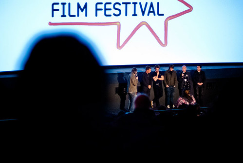 Director Andrew Douglas, Jamie Blackley, Mike Walden, Simon Cocker and Jason Taylor answer questions after the screening of their film uwantme2killhim?