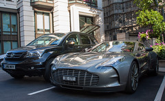 354,86 km/h. (Antoine Beck) Tags: england brown sun david london car grey hotel switzerland photo martin swiss sunny spotted limited edition supercar dorchester v8 aston astonmartin v10 ch w16 v6 v12 177 carspotting flat6 hypercar worldcars 750hp one77