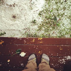 Montana hail storm #fromwhereistand #montanabound (paisleyrainboots) Tags: hail square montana squareformat rise fromwhereistand iphoneography instagramapp uploaded:by=instagram