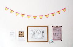 DIY summer garland with neon washi tape (MissSabine) Tags: paper diy mt banner craft garland tape tutorial festoon girlande washitape momentstolivefor