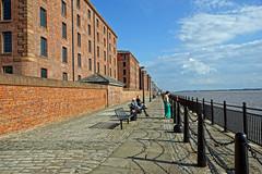 Albert Dock (hehaden) Tags: sea summer sunshine architecture liverpool buildings chains path victorian walkway hdr albertdock redbrick bollards