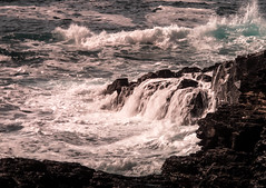 Time and Tides (Raggedjack1) Tags: cornwall atlanticocean hightide kenidjack