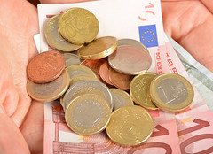 Money in hand (publicstock) Tags: money hands coins euro cash business euros finance moneyinhands