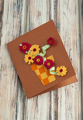 *** (vanilllaph) Tags: flowers flower card greeting quilling quilled