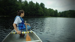 (f3_LL) Tags: trees camp lake ny green water mom daughter paddle adirondacks canoe canoeing cedarbrook