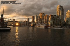 Before Sunset, Granville Island, Vancouver (Teddy Kwok) Tags: sunset sea orange vancouver river island evening boat warm bc cloudy harbour granville sunny before columbia british yvr