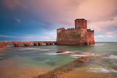 Torre astura (Corsaro078) Tags: sunset sea seascape clouds landscape tramonto nuvole mare paesaggio torreastura