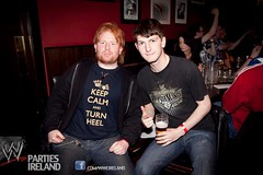 """Anthony Murtaugh at a Royal Rumble 2013 viewing party, rocking the """"Keep Calm"""" shirt"""