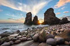 Wild West (CResende) Tags: ocean sunset wild sun seascape west portugal star europe sintra pebbles nikkor roca d800 1635 malhada lourial cresende