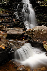 Ozone Falls: Cascade (Shahid Durrani) Tags: fall waterfall pennsylvania glen ricketts