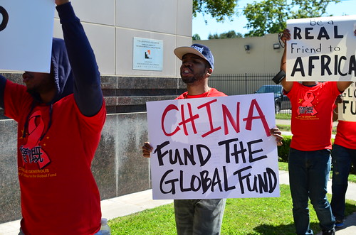 Houston: China Global Fund Protest (10/24/13)