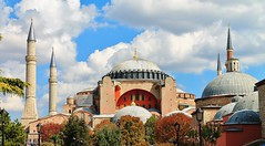 St. Sophia Istanbul (Eddie Crutchley) Tags: turkey istanbul stsophia yabbadabbadoo greatphotographers vision:mountain=0785 vision:outdoor=091 vision:sky=0941 vision:clouds=081