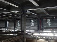 (TheMachineStops) Tags: subway nycta mta train graffiti newyorkcitysubway urbanart beam indoor nyctransit nycsubway
