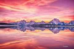 Teton Reflection (Wind Walk) Tags: park lake reflection mirror mt grand jackson national teton moran vision:sunset=086 vision:text=0526 vision:car=0547 vision:sky=0653