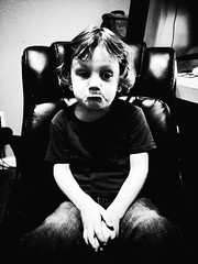 350 of 365 - sad face (★[ the black star ]★) Tags: boy blackandwhite bw kid hands chair toddler sitting adorable things kingston stuff shrug pretend sadface preschooler noirfilter 350365 theblackstar threehundredfifty thelittlemister uploaded:by=flickrmobile flickriosapp:filter=noir