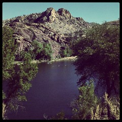 Pena Blanca Lake (K e v i n) Tags: arizona lake southwest nature square outdoors az squareformat brannan sonorandesert southernarizona penablancalake southernaz iphoneography instagramapp uploaded:by=instagram
