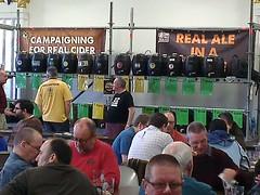 2014-02-07 15.03.34 (CAMRAswl) Tags: beer cider battersea beerfestival camra cask bac grandhall southwestlondon sw11 ciderbar batterseaartscentre batterseabeerfestival campaignforrealale lowerhall swlondon realeale
