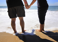 Couple holding hands at a beach (Macbrian Mun) Tags: ocean sea two people love beach boyfriend relax person togetherness engagement sand holding hands girlfriend couple asia day hand relaxing marriage wave valentine romance lovers together foam tropical valentines romantic leisure lover marry