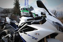 Triumph Daytona 675 SE 2014 (bjoern.gramm) Tags: helmet triumph motorcycle daytona helm supersport motorrad 675 xlite