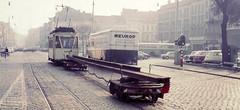 Once upon a time - Belgium - Antwerp Rooseveltplaats (railasia) Tags: belgium flanders antwerpen miva metergauge utilityvehicle streetscene sixties