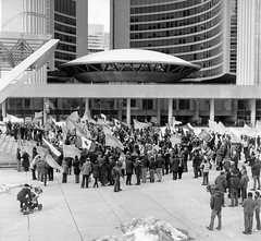Ukraine MAIDAN to Honour the 200th Birthday of TARAS SHEVCHENKO!  Sunday March 9, 2014 Toronto City Hall (Metrix X) Tags: iso400 film 80mmf28 ddx14for17minutes20c mamiyac220 rollei rolleiretro400s ukraine tarasshevchenko maidan toronto cityhall