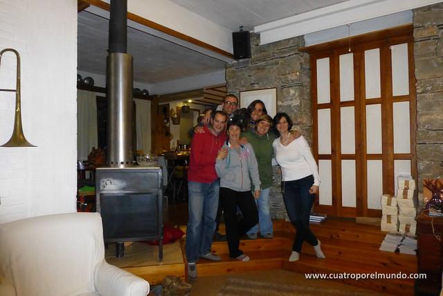 Cena en casa de Berta con Sandra, Miguel y Marta