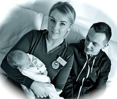 LAUREN & ANDY (simongavin83) Tags: people blackandwhite baby love loving holding monotone newborn persons