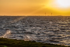 Markermeer (Esther Vinju Photography) Tags: sunset water night photography evening zonsondergang meer wind nacht zee esther avond turbine windturbine almere markermeer vinju esthervinju