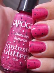 Vermelho Absurdo - L'apogée (Natalia Breda) Tags: glitter rosa vermelho desafio lapogée esmaltenacional